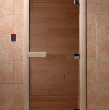 Дверь для саун «Тёплый день» бронза