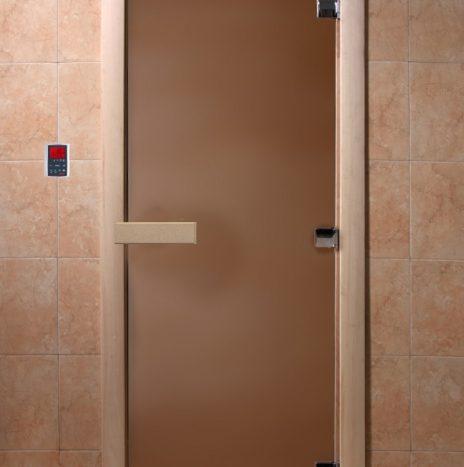 Дверь для саун «Тёплая ночь» бронза матовая