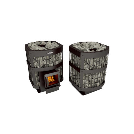 Дровяная печь Grill'D Leo II 130 short black
