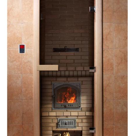 Дверь для сауны с фотопечатью А040