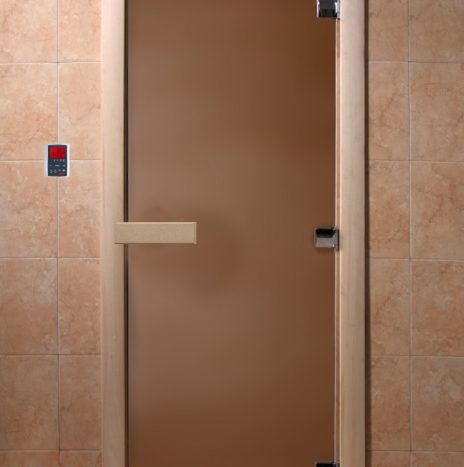 "Дверь для саун ""Тёплая ночь"" бронза матовая"