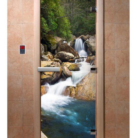 Дверь для сауны с фотопечатью А100