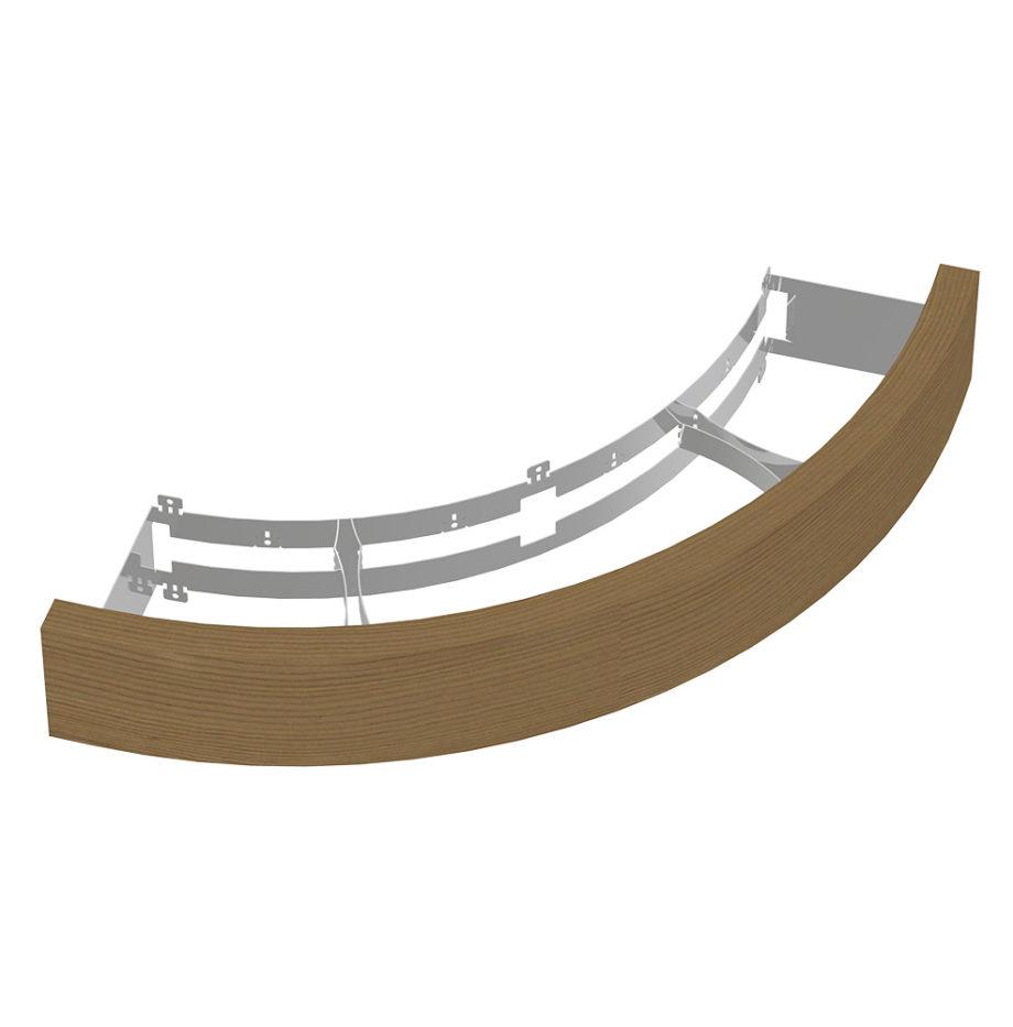 Деревянное ограждение SAWO ARI-GUARD-W3-CNR-D для печи с угловой установкой