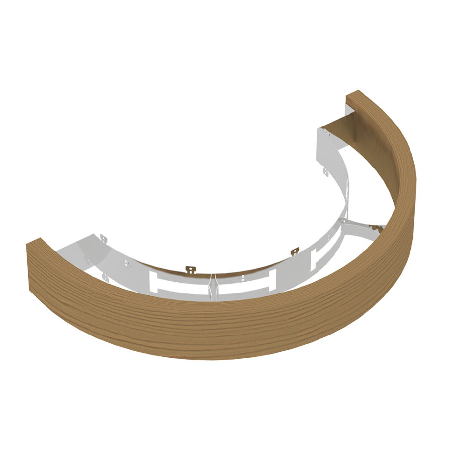 Деревянное ограждение SAWO ARI-GUARD-W3-WL-D для печи пристенной установки ARIES ARI3 (кедр)
