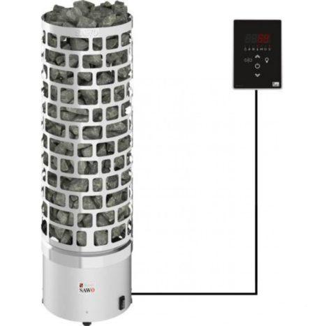 Электрическая печь SAWO ARIES ARI3-75Ni2-P (7,5 кВт, выносной пульт, нержавейка, встроен. блок мощности)